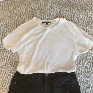 UO White Tee Shirt with Cutouts